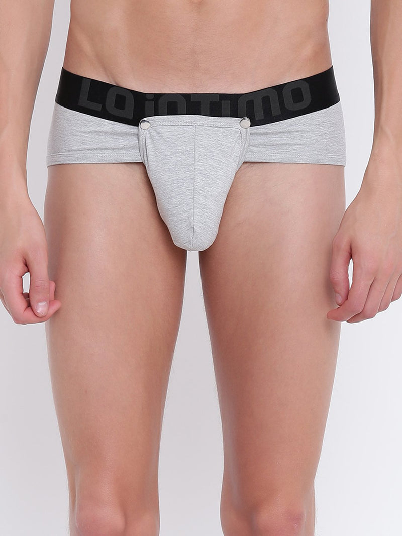 La Intimo, Male, Button Glutton LaIntimo Brief, Men, LIBR005GM0_XL, LIBR005GM0