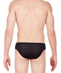 La Intimo Black Men Regular Polyester Spandex Briefs