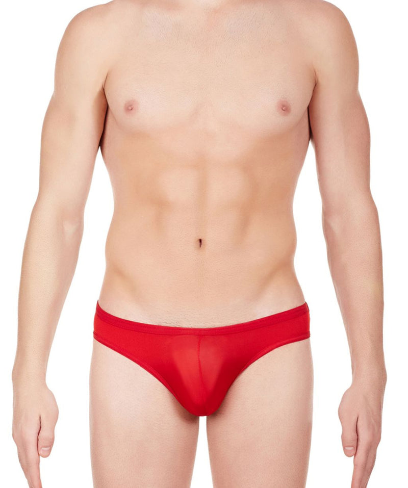 La Intimo Red Men Balls Out Polyester Spandex Briefs
