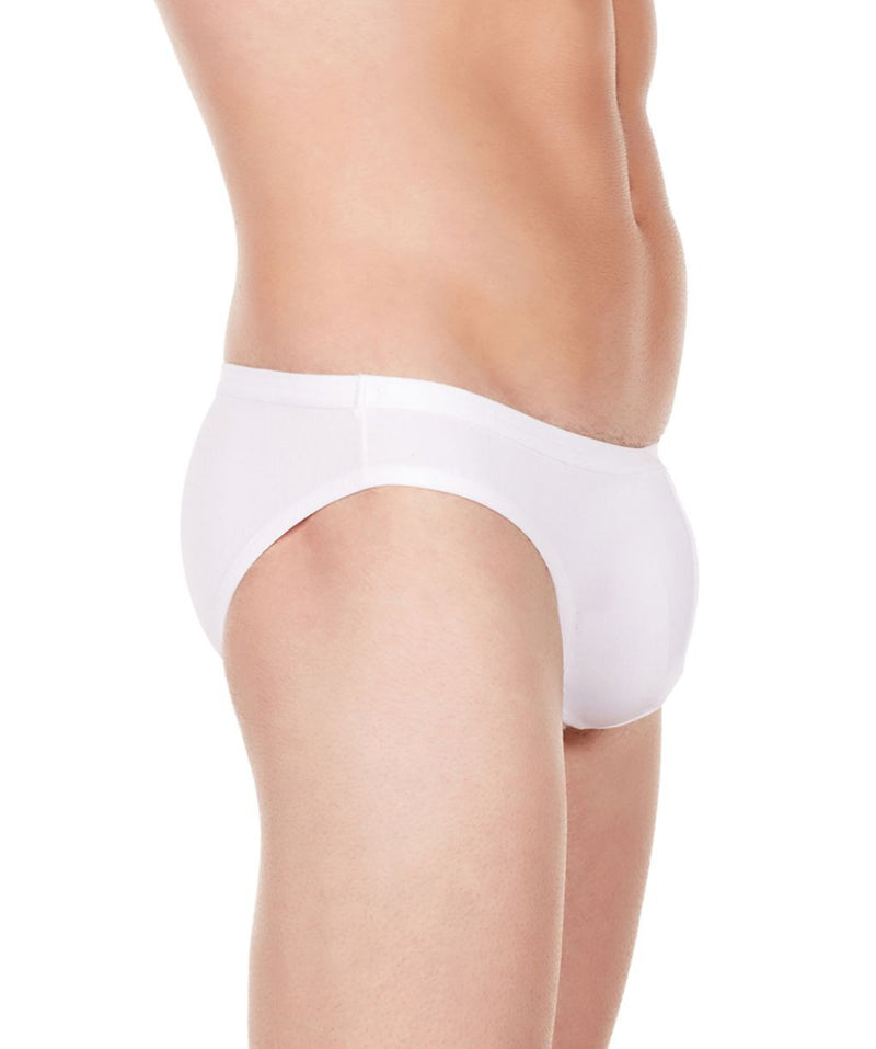 La Intimo White Men Bikini Brief Polyester Spandex Briefs