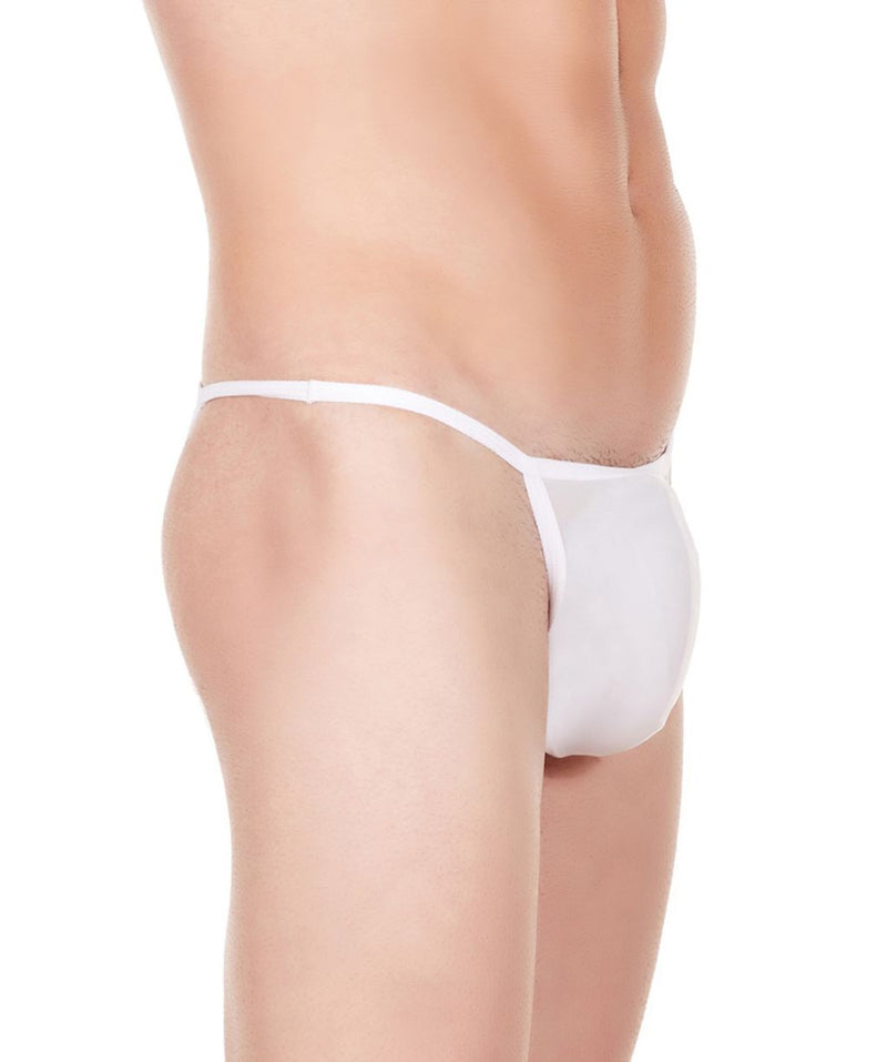 La Intimo White Men String Bikini Nylon Spandex Briefs