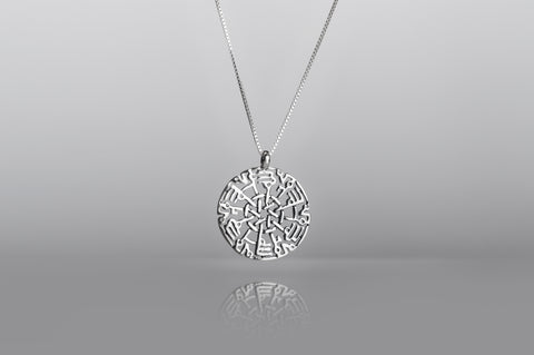 Allah Muhammad Silver Necklace