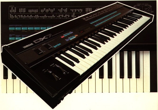 An original DX7 was programmed for its drum elements and reconstructed for Ableton Live, Kontakt and Logic