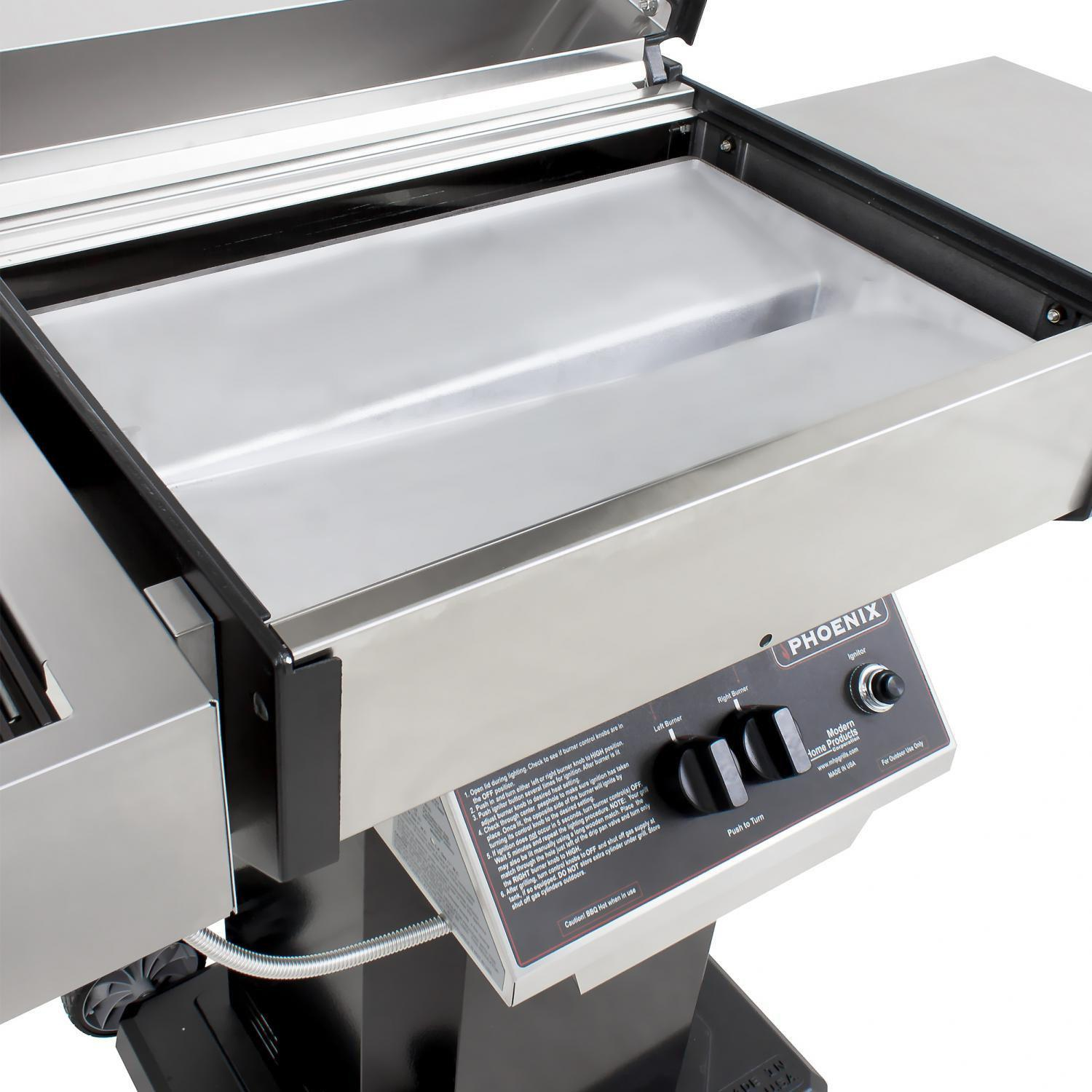 Phoenix Sdbopn Stainless Steel Natural Gas Grill On Black