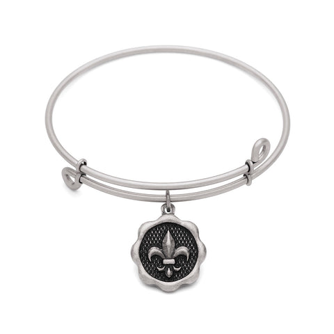 SOL Fleur-de-Lis, Bangle Antique Silver Color Finish