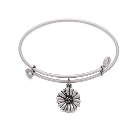 SOL Daisy, Bangle Antique Silver Color Finish