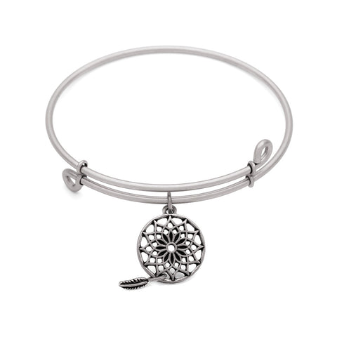 SOL Dream Catcher, Bangle Antique Silver Color Finish