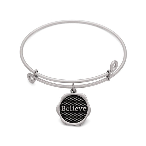 SOL Believe, Bangle Antique Silver Color Finish