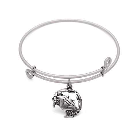 SOL Crab, Bangle Antique Silver Color Finish