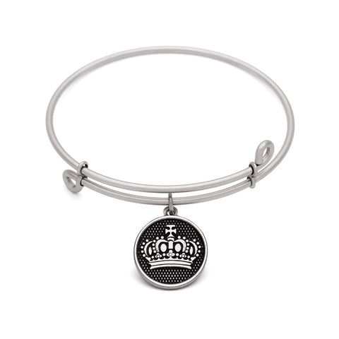 SOL Crown, Bangle Antique Silver Color Finish