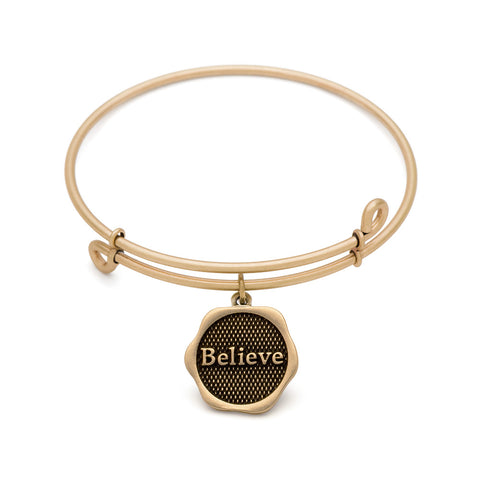 SOL Believe, Bangle Antique Gold Color Finish