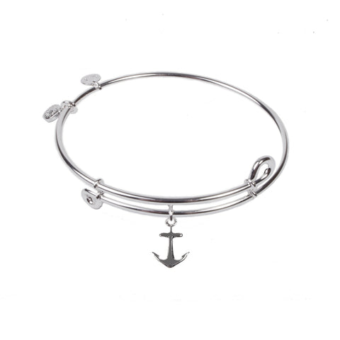 SOL Anchor , Bangle Sterling Silver Plated