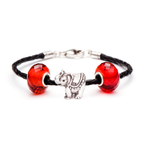Novobeads School Spirit Bracelets, Red Elephant