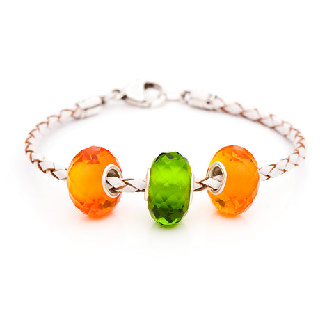 Novobeads School Spirit Bracelets, Orange/Green