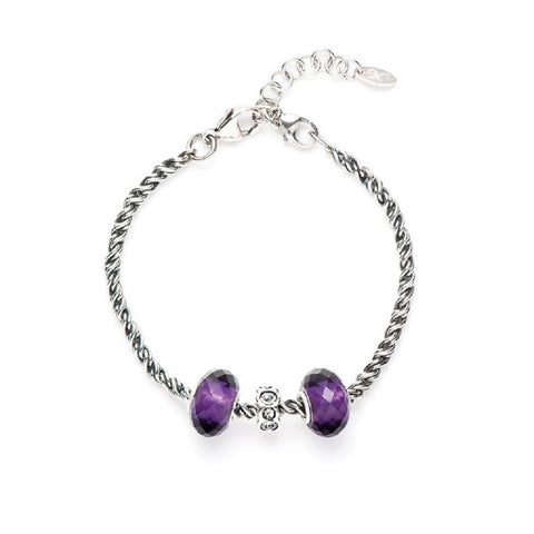 Novobeads Holiday Gift Bracelets, Purple Glow