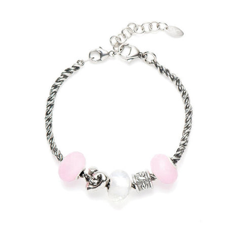 Novobeads Holiday Gift Bracelets, Rose Hearts
