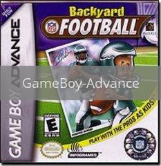 Image of Backyard Football original video game for GameBoy Advance classic game system. Rocket City Arcade, Huntsville Al. We ship used video games Nationwide