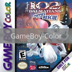 Image of 102 Dalmatians Puppies to the Rescue original video game for GameBoy Color classic game system. Rocket City Arcade, Huntsville Al. We ship used video games Nationwide