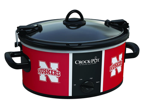 GS200022- Crock-Pot Nebraska Cornhuskers Collegiate 6-Quart Cook & Carry Slow Cooker