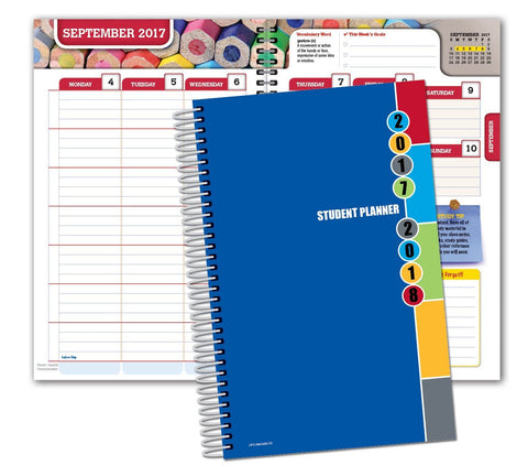 GS7000024-Dated Middle School or High School Planner for Academic Year 2017-2018