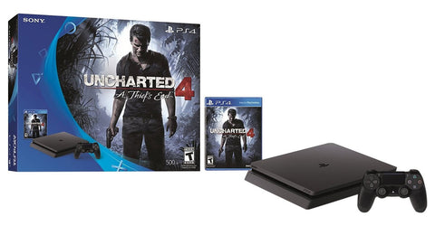 GS0418-PlayStation 4 Slim 500GB Console - Uncharted 4 Bundle