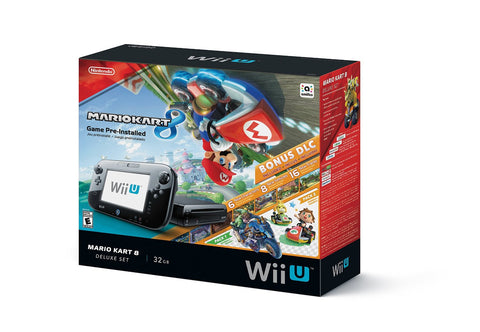 GS0414-Nintendo Wii U 32GB Mario Kart 8 (Pre-Installed) Deluxe Set
