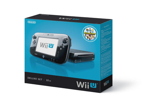 GS0415-Nintendo Wii U Console - 32GB Black Deluxe Set