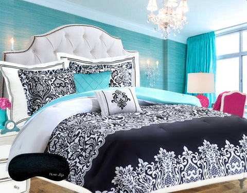 GS2174-DAMASK COMFORTER SUPER SET