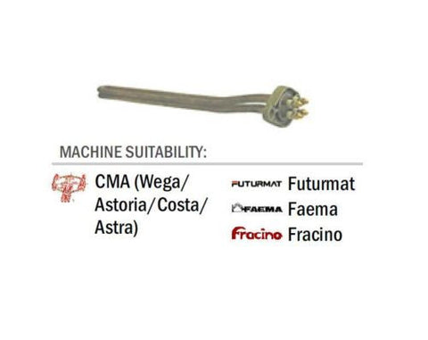 CMA (Wega/Astoria/Costa/Astra) Futurmat Faema Fracino 3 Group Element 3700 Watt, 230v