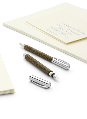 Faber-Castell Ambition Wood / Chrome-plated Fountain Pen Coconut Wood Image 3