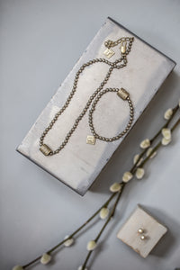Short Pyrite Necklace - gold - m-use