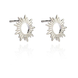 Sunrays Stud Earrings - silver - m-use