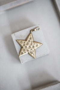 Large Star Charm - antique gold - m-use