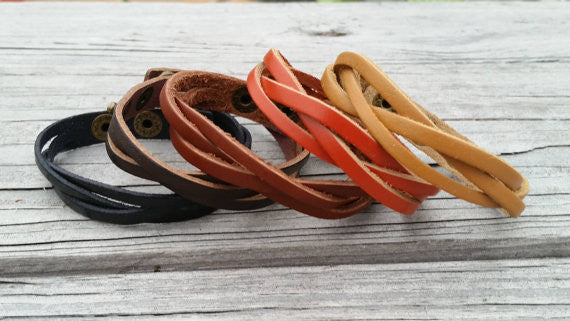 Braided Leather Diffuser Bracelet