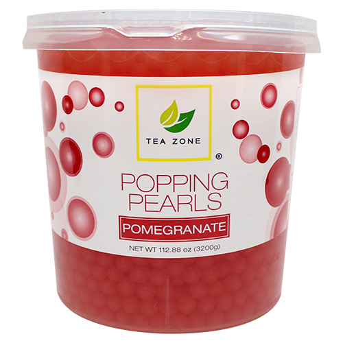 Boba Supplies Wholesale Bubble Tea Shop Popping Boba www.custompapercup.com Tea Zone Pomegranate Popping Pearls (7 lbs) b2060_01_