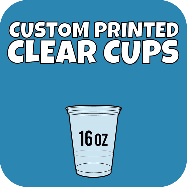16oz Custom Printed Clear Cups 1000ct - CustomPaperCup.com Branded Restaurant Supplies