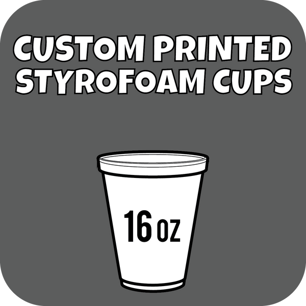 16oz Custom Printed Styrofoam Cups 1000ct - CustomPaperCup.com Branded Restaurant Supplies