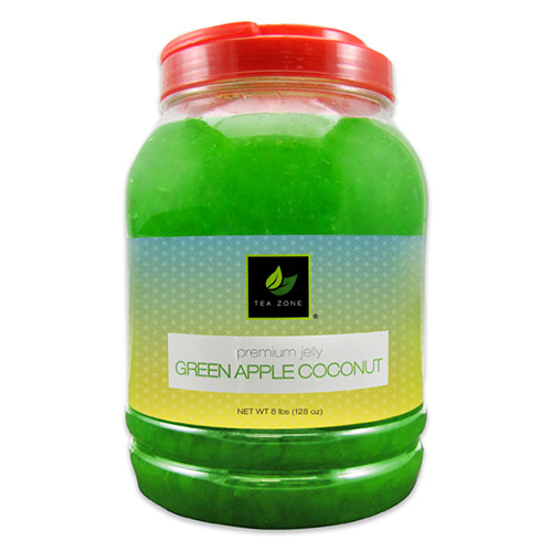 Tea Zone Green Apple Coconut Jelly (8.5 lbs) - CustomPaperCup.com Branded Restaurant Supplies