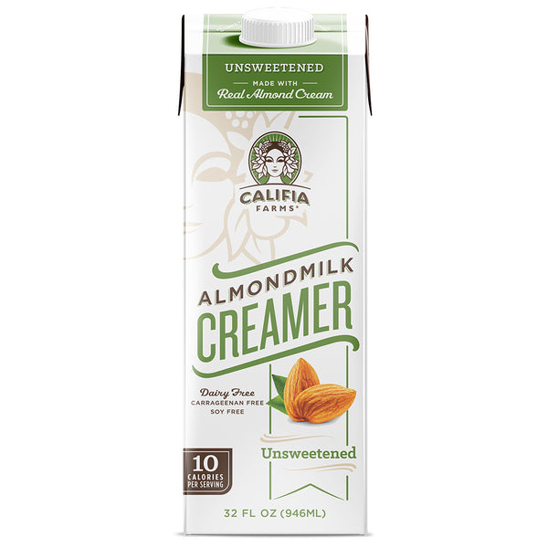 Califia Farms Almond Milk Creamer - Unsweetened (32oz) - CustomPaperCup.com Branded Restaurant Supplies