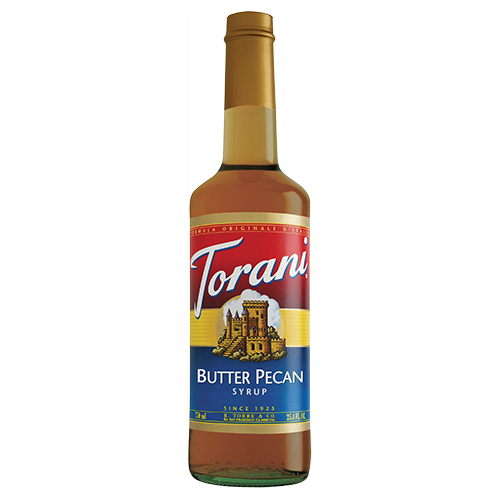 Torani Butter Pecan Syrup (750 mL) - CustomPaperCup.com Branded Restaurant Supplies