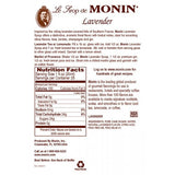 Monin Lavender Syrup (750mL) - CustomPaperCup.com Branded Restaurant Supplies