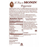 Monin Peppermint Syrup (750mL) - CustomPaperCup.com Branded Restaurant Supplies