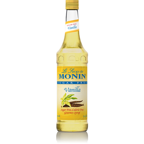Monin Sugar Free Vanilla Syrup (750mL) - CustomPaperCup.com Branded Restaurant Supplies