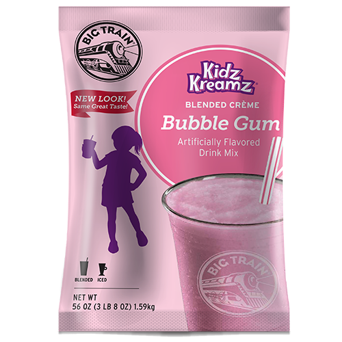 Big Train Bubblegum Kidz Kreamz Frappé Mix (3.5 lbs) - CustomPaperCup.com Branded Restaurant Supplies