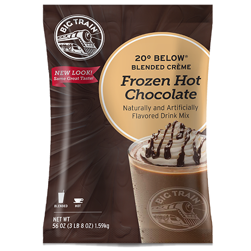 Big Train 20° Below Frozen Hot Chocolate Mix (3.5 lbs) - CustomPaperCup.com Branded Restaurant Supplies