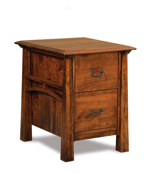 Artesa file cabinet shown in Cherry with a Michaels Cherry finish