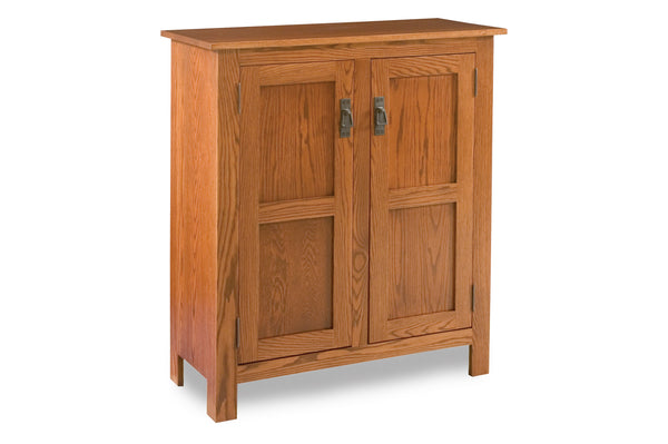 Mission two door reverse panel pie safe shown in Oak