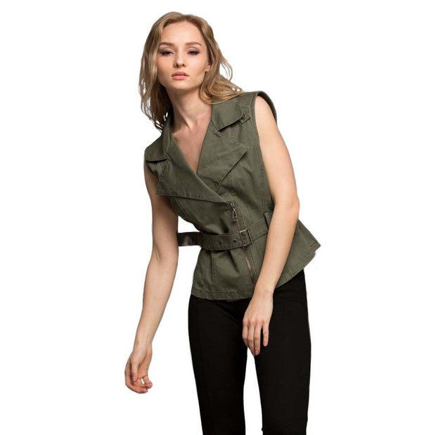 Twist And Make Up Olive Vest - Nixon & Co Boutique