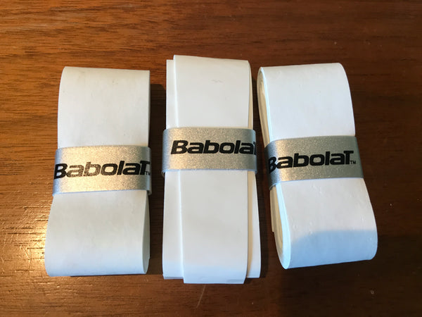 Babolat White Overgrips - set of 3