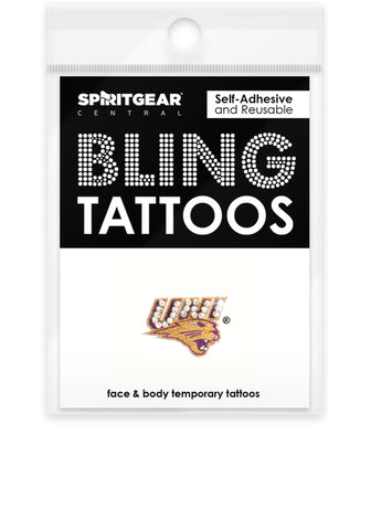 Northern Iowa Panthers Bling Tattoos